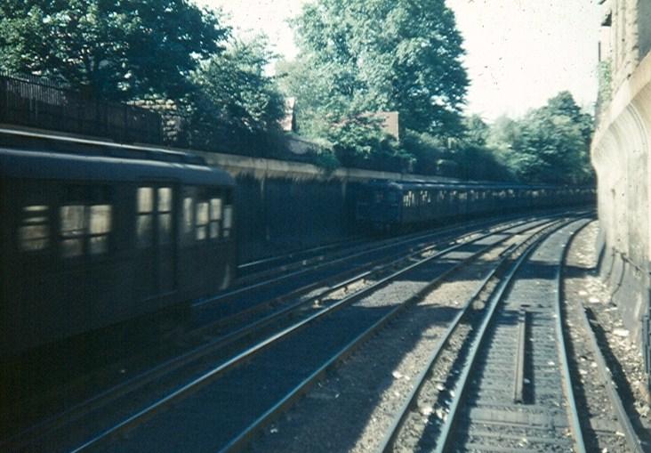 (121k, 732x509)<br><b>Country:</b> United States<br><b>City:</b> New York<br><b>System:</b> New York City Transit<br><b>Line:</b> BMT Brighton Line<br><b>Location:</b> Beverley Road <br><b>Car:</b> BMT A/B-Type Standard  <br><b>Photo by:</b> Brian J. Cudahy<br><b>Date:</b> 1955<br><b>Notes:</b> Action at Beverley Road on the Brighton Line.<br><b>Viewed (this week/total):</b> 0 / 1765