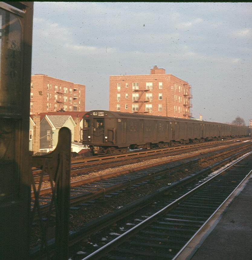 (386k, 834x862)<br><b>Country:</b> United States<br><b>City:</b> New York<br><b>System:</b> New York City Transit<br><b>Line:</b> BMT Brighton Line<br><b>Location:</b> Neck Road <br><b>Route:</b> QJ<br><b>Car:</b> R-30 (St. Louis, 1961)  <br><b>Photo by:</b> Brian J. Cudahy<br><b>Date:</b> 1969<br><b>Viewed (this week/total):</b> 0 / 1545