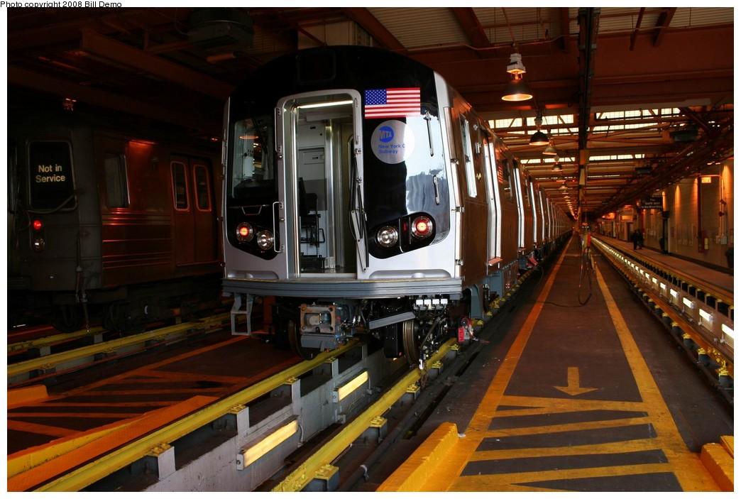 (196k, 1044x703)<br><b>Country:</b> United States<br><b>City:</b> New York<br><b>System:</b> New York City Transit<br><b>Location:</b> Coney Island Shop/Maint. & Inspection Shop<br><b>Car:</b> R-160A/R-160B Series (Number Unknown)  <br><b>Photo by:</b> Pete Monty<br><b>Collection of:</b> Bill Demo<br><b>Date:</b> 4/13/2008<br><b>Viewed (this week/total):</b> 0 / 2052