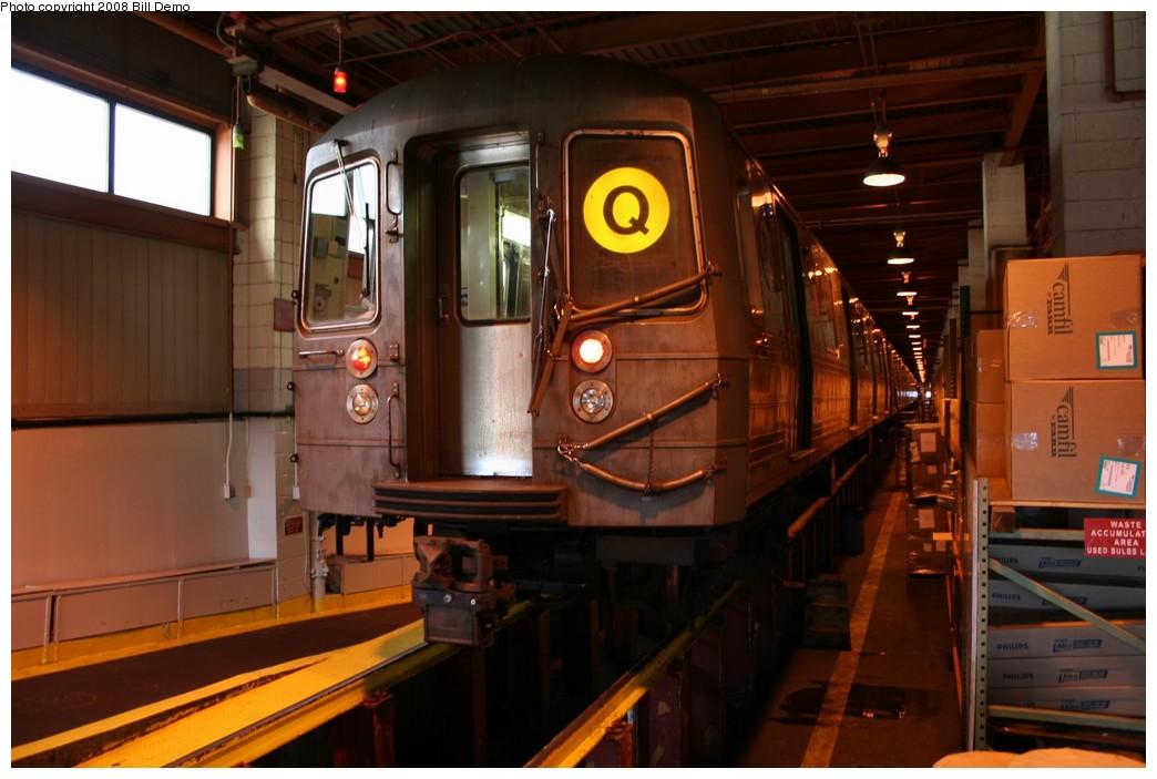 (169k, 1044x703)<br><b>Country:</b> United States<br><b>City:</b> New York<br><b>System:</b> New York City Transit<br><b>Location:</b> Coney Island Shop/Maint. & Inspection Shop<br><b>Car:</b> R-68/R-68A Series (Number Unknown)  <br><b>Photo by:</b> Pete Monty<br><b>Collection of:</b> Bill Demo<br><b>Date:</b> 4/13/2008<br><b>Viewed (this week/total):</b> 1 / 1385