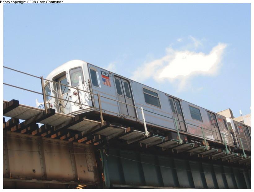 (98k, 820x620)<br><b>Country:</b> United States<br><b>City:</b> New York<br><b>System:</b> New York City Transit<br><b>Line:</b> IRT Woodlawn Line<br><b>Location:</b> 183rd Street <br><b>Route:</b> 4<br><b>Car:</b> R-62 (Kawasaki, 1983-1985)  1531 <br><b>Photo by:</b> Gary Chatterton<br><b>Date:</b> 5/4/2008<br><b>Viewed (this week/total):</b> 0 / 1702