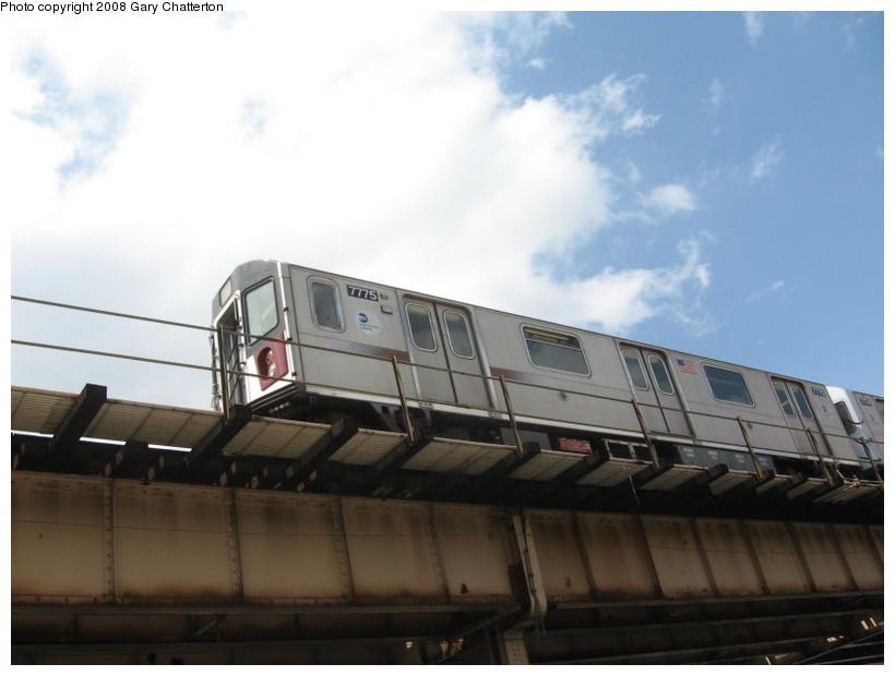 (89k, 820x620)<br><b>Country:</b> United States<br><b>City:</b> New York<br><b>System:</b> New York City Transit<br><b>Line:</b> IRT Woodlawn Line<br><b>Location:</b> 183rd Street <br><b>Route:</b> 4<br><b>Car:</b> R-142A (Supplemental Order, Kawasaki, 2003-2004)  7775 <br><b>Photo by:</b> Gary Chatterton<br><b>Date:</b> 5/4/2008<br><b>Viewed (this week/total):</b> 1 / 1762