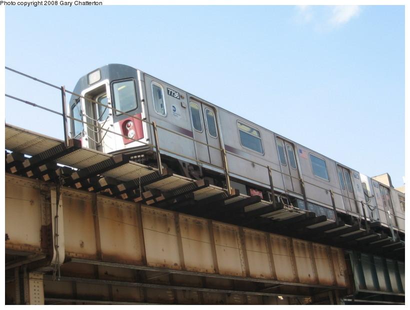 (108k, 820x620)<br><b>Country:</b> United States<br><b>City:</b> New York<br><b>System:</b> New York City Transit<br><b>Line:</b> IRT Woodlawn Line<br><b>Location:</b> 183rd Street <br><b>Route:</b> 4<br><b>Car:</b> R-142A (Supplemental Order, Kawasaki, 2003-2004)  7736 <br><b>Photo by:</b> Gary Chatterton<br><b>Date:</b> 5/4/2008<br><b>Viewed (this week/total):</b> 0 / 2427