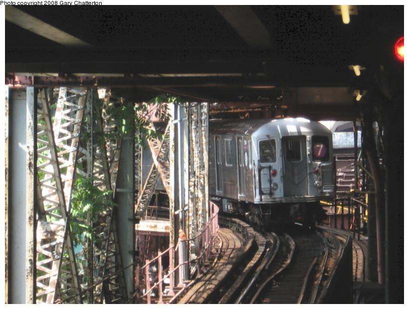 (137k, 820x620)<br><b>Country:</b> United States<br><b>City:</b> New York<br><b>System:</b> New York City Transit<br><b>Line:</b> IRT Flushing Line<br><b>Location:</b> Queensborough Plaza <br><b>Route:</b> 7<br><b>Car:</b> R-62A (Bombardier, 1984-1987)  1964 <br><b>Photo by:</b> Gary Chatterton<br><b>Date:</b> 6/29/2008<br><b>Viewed (this week/total):</b> 0 / 2205