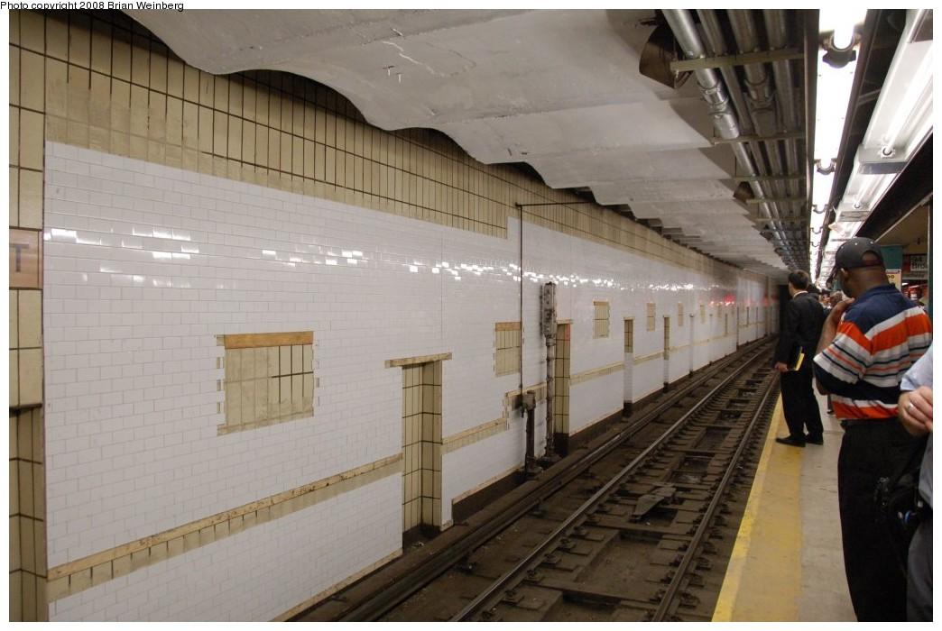 (228k, 1044x700)<br><b>Country:</b> United States<br><b>City:</b> New York<br><b>System:</b> New York City Transit<br><b>Line:</b> IRT West Side Line<br><b>Location:</b> 96th Street <br><b>Photo by:</b> Brian Weinberg<br><b>Date:</b> 6/17/2008<br><b>Notes:</b> Note new wall tiles on northbound local track wall.<br><b>Viewed (this week/total):</b> 3 / 1992