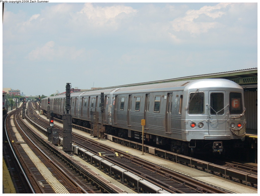 (247k, 1044x788)<br><b>Country:</b> United States<br><b>City:</b> New York<br><b>System:</b> New York City Transit<br><b>Line:</b> BMT Culver Line<br><b>Location:</b> Avenue X <br><b>Route:</b> F<br><b>Car:</b> R-46 (Pullman-Standard, 1974-75) 6014 <br><b>Photo by:</b> Zach Summer<br><b>Date:</b> 6/30/2008<br><b>Viewed (this week/total):</b> 0 / 1483