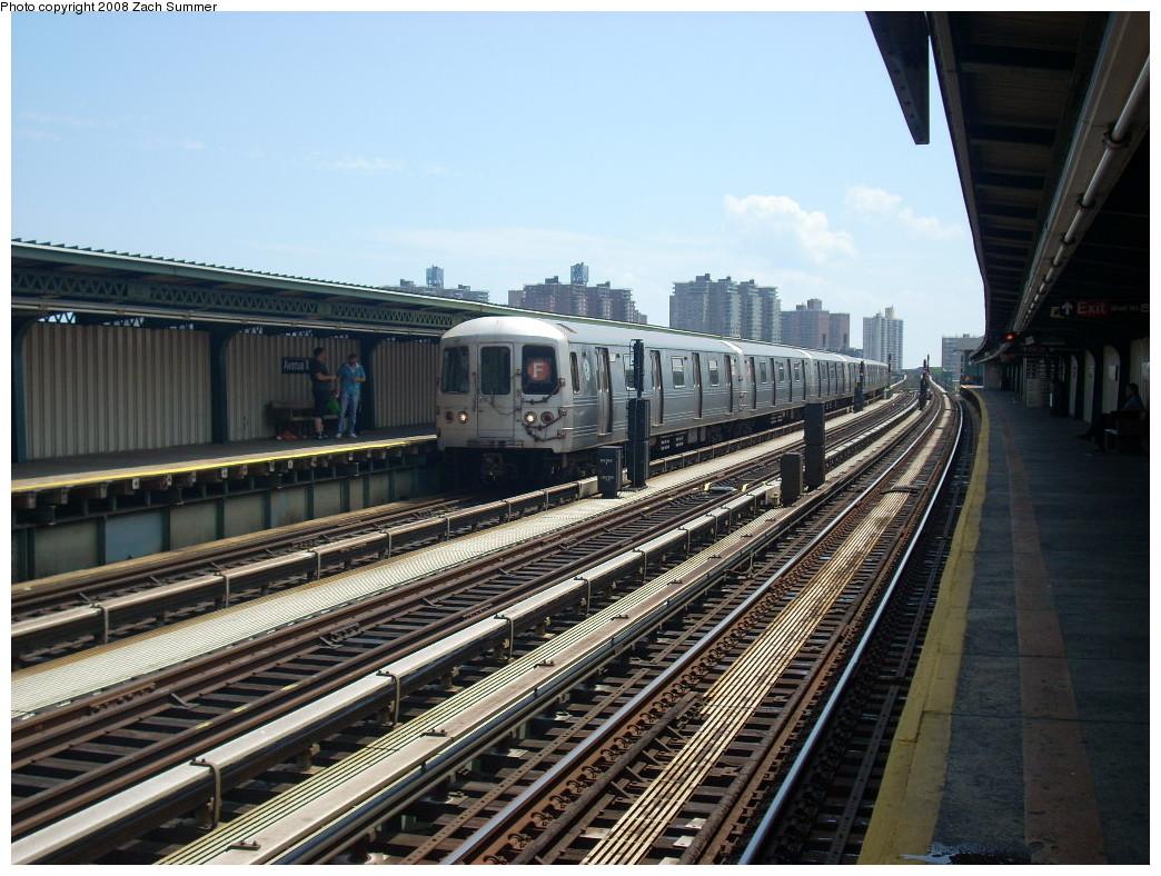 (281k, 1044x788)<br><b>Country:</b> United States<br><b>City:</b> New York<br><b>System:</b> New York City Transit<br><b>Line:</b> BMT Culver Line<br><b>Location:</b> Avenue X <br><b>Route:</b> F<br><b>Car:</b> R-46 (Pullman-Standard, 1974-75) 5538 <br><b>Photo by:</b> Zach Summer<br><b>Date:</b> 6/30/2008<br><b>Viewed (this week/total):</b> 0 / 942