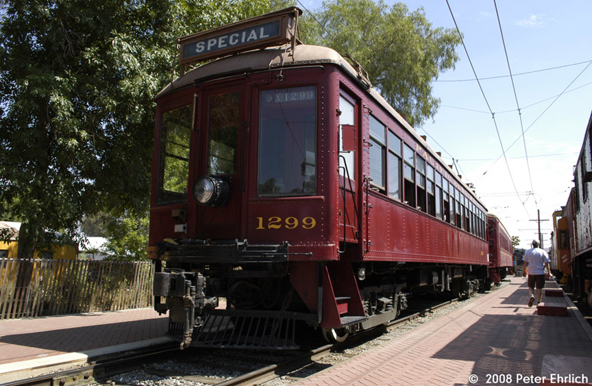 (228k, 864x564)<br><b>Country:</b> United States<br><b>City:</b> Perris, CA<br><b>System:</b> Orange Empire Railway Museum <br><b>Car:</b>  1299 <br><b>Photo by:</b> Peter Ehrlich<br><b>Date:</b> 6/14/2008<br><b>Notes:</b> At Pinacate Station.<br><b>Viewed (this week/total):</b> 0 / 782