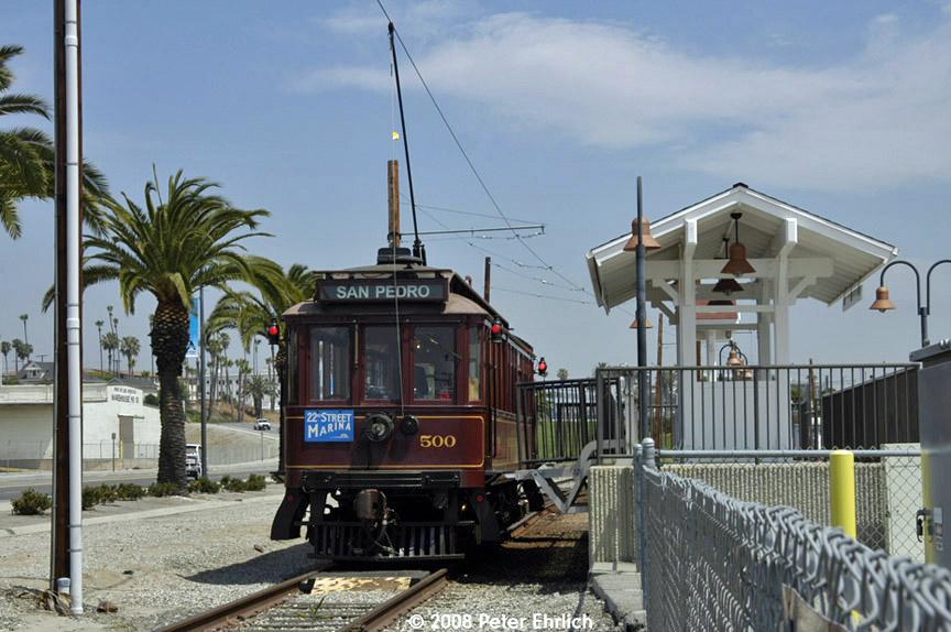(183k, 864x574)<br><b>Country:</b> United States<br><b>City:</b> Los Angeles, CA<br><b>System:</b> San Pedro Red Car Line<br><b>Location:</b> 22nd Street/Marina <br><b>Photo by:</b> Peter Ehrlich<br><b>Date:</b> 6/16/2008<br><b>Viewed (this week/total):</b> 1 / 919