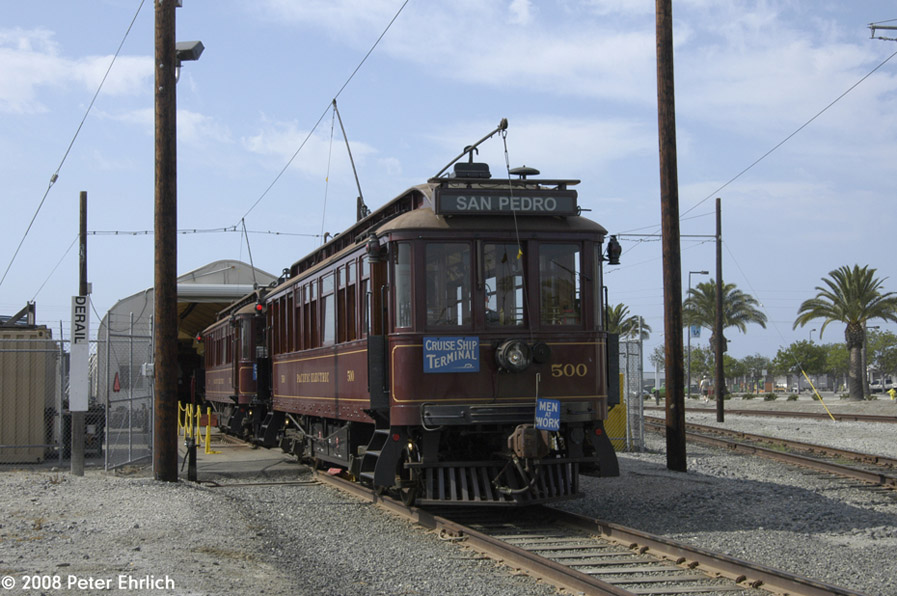 (187k, 897x596)<br><b>Country:</b> United States<br><b>City:</b> Los Angeles, CA<br><b>System:</b> San Pedro Red Car Line<br><b>Location:</b> Carbarn <br><b>Photo by:</b> Peter Ehrlich<br><b>Date:</b> 6/16/2008<br><b>Viewed (this week/total):</b> 1 / 965