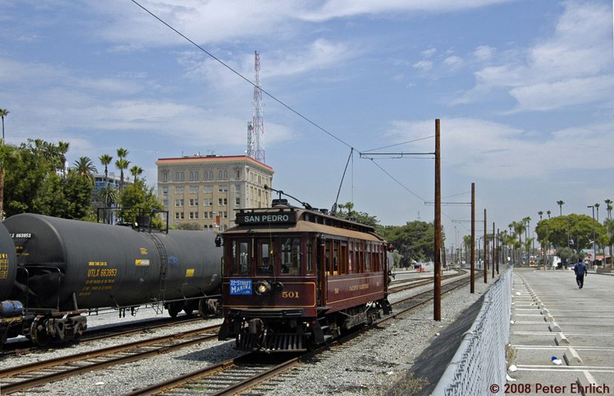 (185k, 864x557)<br><b>Country:</b> United States<br><b>City:</b> Los Angeles, CA<br><b>System:</b> San Pedro Red Car Line<br><b>Location:</b> 6th Street/Downtown <br><b>Photo by:</b> Peter Ehrlich<br><b>Date:</b> 6/16/2008<br><b>Notes:</b> Southbound; South of 6th Street.<br><b>Viewed (this week/total):</b> 0 / 899