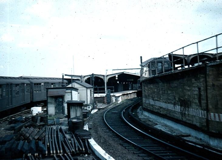 (97k, 731x526)<br><b>Country:</b> United States<br><b>City:</b> New York<br><b>System:</b> New York City Transit<br><b>Location:</b> Coney Island/Stillwell Avenue<br><b>Car:</b> BMT A/B-Type Standard  <br><b>Photo by:</b> Brian J. Cudahy<br><b>Date:</b> 1954<br><b>Notes:</b> Culver Local moves into Stillwell Avenue.<br><b>Viewed (this week/total):</b> 0 / 2097