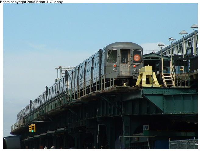 (87k, 660x500)<br><b>Country:</b> United States<br><b>City:</b> New York<br><b>System:</b> New York City Transit<br><b>Location:</b> Coney Island/Stillwell Avenue<br><b>Route:</b> D<br><b>Car:</b> R-68/R-68A Series (Number Unknown)  <br><b>Photo by:</b> Brian J. Cudahy<br><b>Date:</b> 3/10/2004<br><b>Notes:</b> Stillwell during re-construction.<br><b>Viewed (this week/total):</b> 0 / 2036