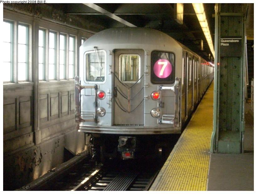 (170k, 820x620)<br><b>Country:</b> United States<br><b>City:</b> New York<br><b>System:</b> New York City Transit<br><b>Line:</b> IRT Flushing Line<br><b>Location:</b> Queensborough Plaza <br><b>Route:</b> 7<br><b>Car:</b> R-62A (Bombardier, 1984-1987)   <br><b>Photo by:</b> Bill E.<br><b>Date:</b> 7/8/2008<br><b>Viewed (this week/total):</b> 2 / 1552