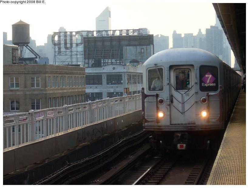 (148k, 820x620)<br><b>Country:</b> United States<br><b>City:</b> New York<br><b>System:</b> New York City Transit<br><b>Line:</b> IRT Flushing Line<br><b>Location:</b> Queensborough Plaza <br><b>Route:</b> 7<br><b>Car:</b> R-62A (Bombardier, 1984-1987)   <br><b>Photo by:</b> Bill E.<br><b>Date:</b> 7/8/2008<br><b>Viewed (this week/total):</b> 0 / 1618