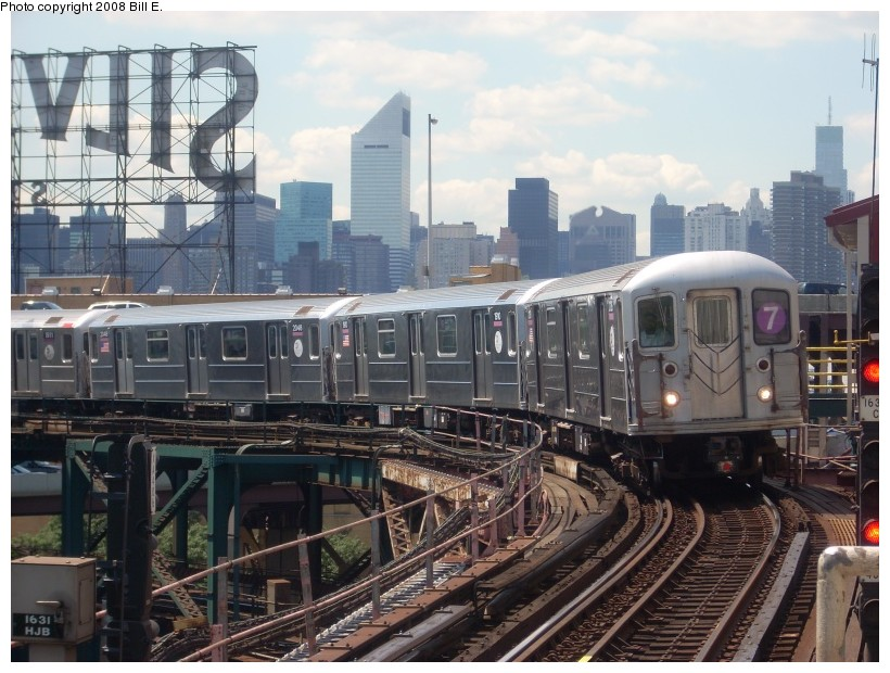 (185k, 820x620)<br><b>Country:</b> United States<br><b>City:</b> New York<br><b>System:</b> New York City Transit<br><b>Line:</b> IRT Flushing Line<br><b>Location:</b> Queensborough Plaza <br><b>Route:</b> 7<br><b>Car:</b> R-62A (Bombardier, 1984-1987)  2126 <br><b>Photo by:</b> Bill E.<br><b>Date:</b> 7/11/2008<br><b>Viewed (this week/total):</b> 2 / 1770