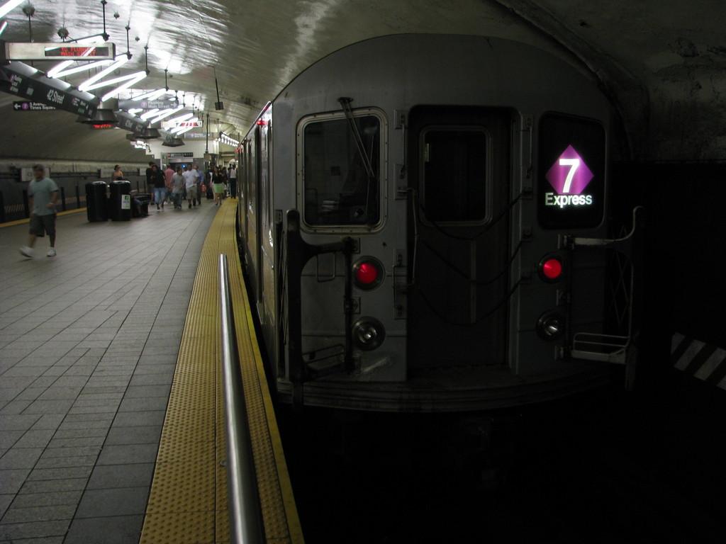 (150k, 1024x768)<br><b>Country:</b> United States<br><b>City:</b> New York<br><b>System:</b> New York City Transit<br><b>Line:</b> IRT Flushing Line<br><b>Location:</b> Grand Central <br><b>Route:</b> 7<br><b>Car:</b> R-62A (Bombardier, 1984-1987)  1766 <br><b>Photo by:</b> Andrew Johnson<br><b>Date:</b> 7/7/2008<br><b>Viewed (this week/total):</b> 3 / 1878
