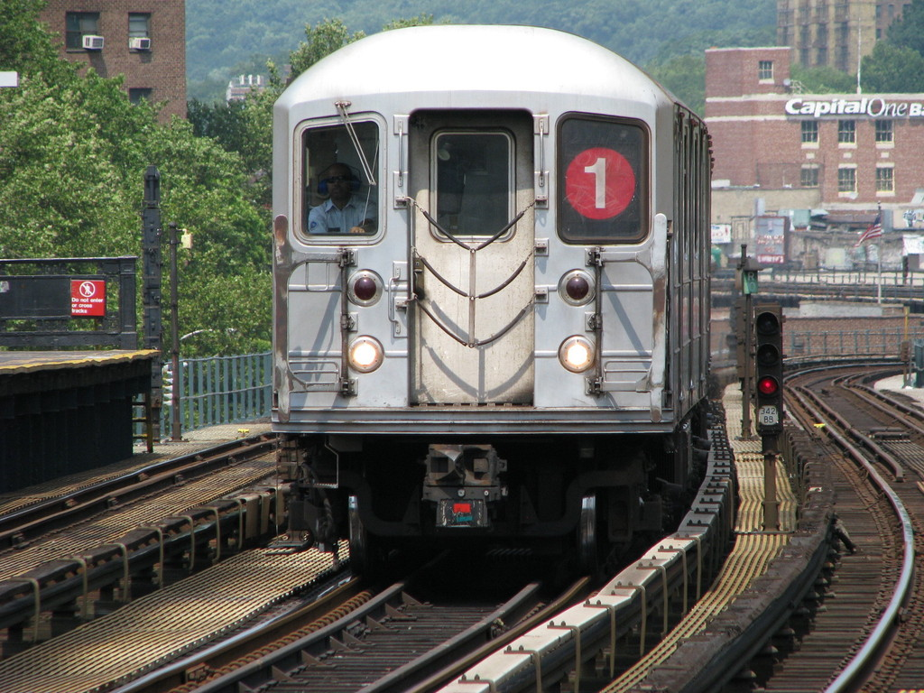 (279k, 1024x768)<br><b>Country:</b> United States<br><b>City:</b> New York<br><b>System:</b> New York City Transit<br><b>Line:</b> IRT West Side Line<br><b>Location:</b> 225th Street <br><b>Route:</b> 1<br><b>Car:</b> R-62A (Bombardier, 1984-1987)  2380 <br><b>Photo by:</b> Andrew Johnson<br><b>Date:</b> 7/3/2008<br><b>Viewed (this week/total):</b> 1 / 1676