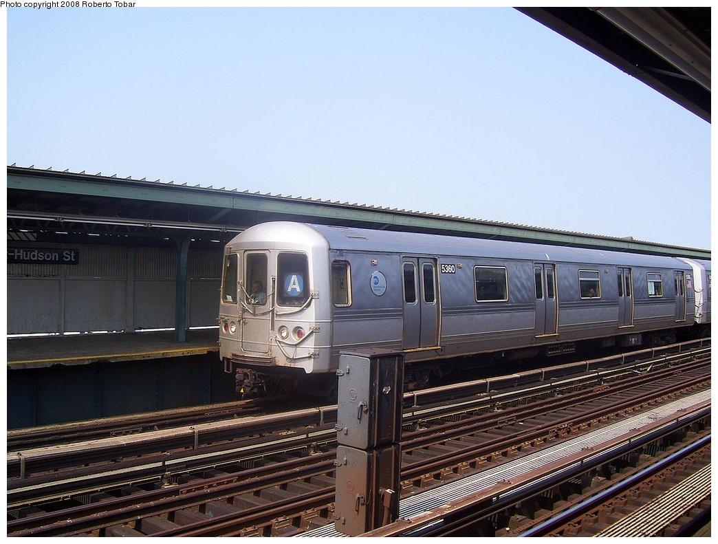(226k, 1044x791)<br><b>Country:</b> United States<br><b>City:</b> New York<br><b>System:</b> New York City Transit<br><b>Line:</b> IND Fulton Street Line<br><b>Location:</b> 80th Street/Hudson Street <br><b>Route:</b> A<br><b>Car:</b> R-44 (St. Louis, 1971-73) 5360 <br><b>Photo by:</b> Roberto C. Tobar<br><b>Date:</b> 7/12/2008<br><b>Viewed (this week/total):</b> 1 / 1076