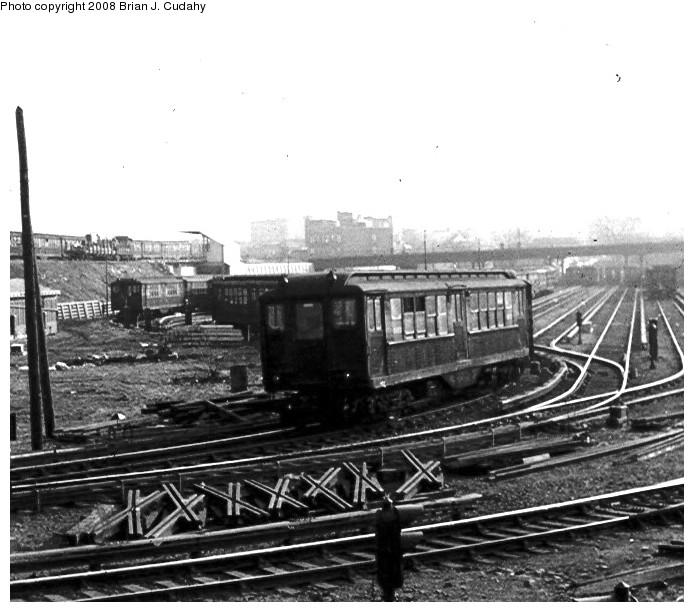 (131k, 694x612)<br><b>Country:</b> United States<br><b>City:</b> New York<br><b>System:</b> New York City Transit<br><b>Location:</b> 239th Street Yard<br><b>Car:</b> Low-V  <br><b>Photo by:</b> Brian J. Cudahy<br><b>Date:</b> 1970<br><b>Notes:</b> Low-V IRT cars at 239th Street Yard, ca. 1970.<br><b>Viewed (this week/total):</b> 4 / 1947