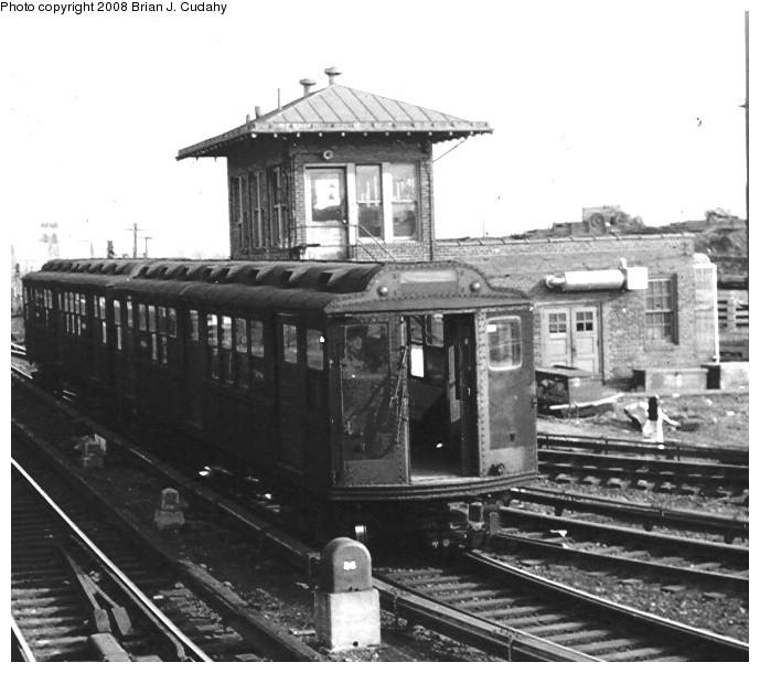 (122k, 689x610)<br><b>Country:</b> United States<br><b>City:</b> New York<br><b>System:</b> New York City Transit<br><b>Location:</b> 239th Street Yard<br><b>Car:</b> Low-V Worlds Fair  <br><b>Photo by:</b> Brian J. Cudahy<br><b>Date:</b> 1970<br><b>Notes:</b> World's Fair Interborough cars at 239th Street Yard, ca.1970.<br><b>Viewed (this week/total):</b> 3 / 2027