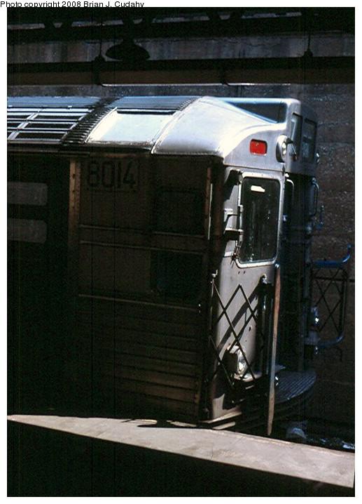 (145k, 517x718)<br><b>Country:</b> United States<br><b>City:</b> New York<br><b>System:</b> New York City Transit<br><b>Line:</b> BMT Franklin<br><b>Location:</b> Prospect Park <br><b>Car:</b> R-11 (Budd, 1949) 8014 <br><b>Photo by:</b> Brian J. Cudahy<br><b>Viewed (this week/total):</b> 1 / 1902