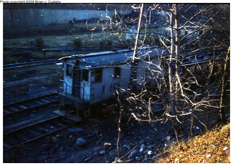 (236k, 790x566)<br><b>Country:</b> United States<br><b>City:</b> New York<br><b>System:</b> New York City Transit<br><b>Location:</b> 2nd Avenue & 39th St.<br><b>Car:</b> SBK Box Cab 4 <br><b>Photo by:</b> Brian J. Cudahy<br><b>Date:</b> 10/2/1954<br><b>Notes:</b> BMT/SBK Ry box motor at 39th Street Yard.<br><b>Viewed (this week/total):</b> 0 / 1864