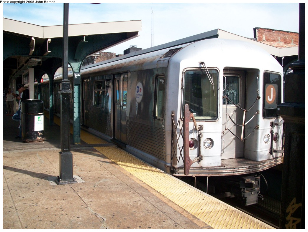 (230k, 1044x788)<br><b>Country:</b> United States<br><b>City:</b> New York<br><b>System:</b> New York City Transit<br><b>Line:</b> BMT Nassau Street/Jamaica Line<br><b>Location:</b> Myrtle Avenue <br><b>Route:</b> J<br><b>Car:</b> R-42 (St. Louis, 1969-1970)  4693 <br><b>Photo by:</b> John Barnes<br><b>Date:</b> 7/10/2008<br><b>Viewed (this week/total):</b> 0 / 1126