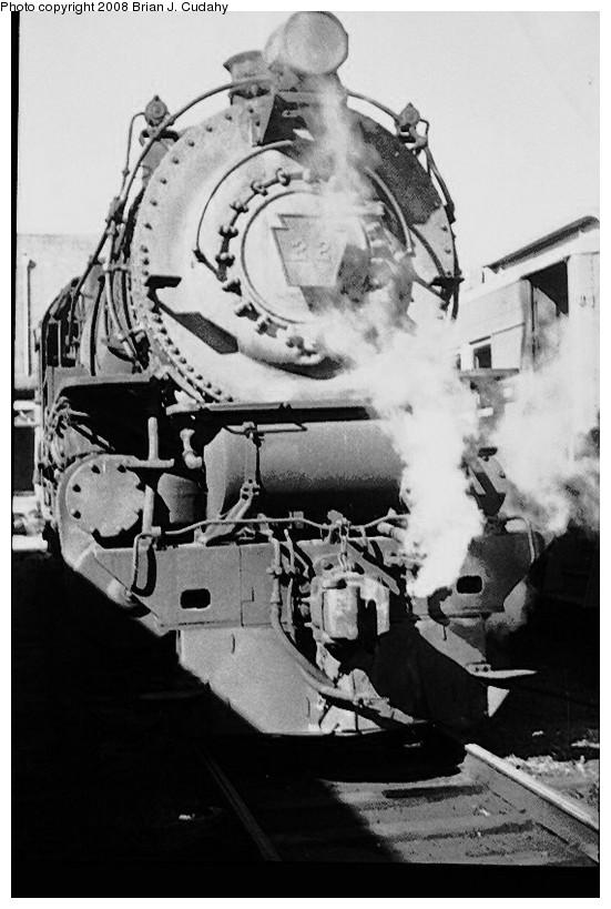 (137k, 551x819)<br><b>Country:</b> United States<br><b>City:</b> New York<br><b>System:</b> Long Island Rail Road<br><b>Line:</b> LIRR Long Island City<br><b>Location:</b> Long Island City <br><b>Photo by:</b> Brian J. Cudahy<br><b>Date:</b> 1954<br><b>Notes:</b> LIRR steam; G5s at Long Island City.<br><b>Viewed (this week/total):</b> 2 / 915