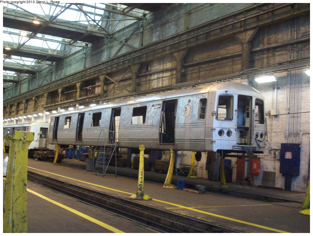 (235k, 1044x788)<br><b>Country:</b> United States<br><b>City:</b> New York<br><b>System:</b> New York City Transit<br><b>Location:</b> 207th Street Shop<br><b>Car:</b> R-44 (St. Louis, 1971-73) 5344 <br><b>Photo by:</b> Glenn L. Rowe<br><b>Date:</b> 3/18/2010<br><b>Viewed (this week/total):</b> 0 / 985