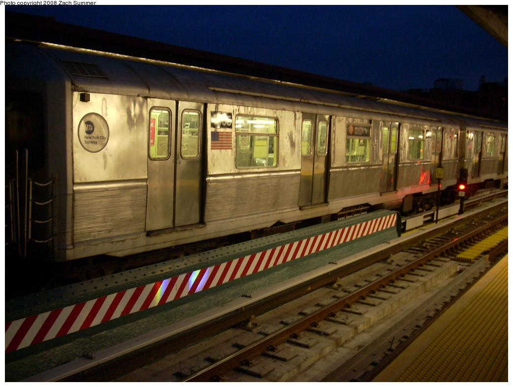 (238k, 1044x788)<br><b>Country:</b> United States<br><b>City:</b> New York<br><b>System:</b> New York City Transit<br><b>Line:</b> BMT Brighton Line<br><b>Location:</b> Ocean Parkway <br><b>Route:</b> B<br><b>Car:</b> R-40M (St. Louis, 1969)  4465 <br><b>Photo by:</b> Zach Summer<br><b>Date:</b> 7/3/2008<br><b>Viewed (this week/total):</b> 1 / 1317