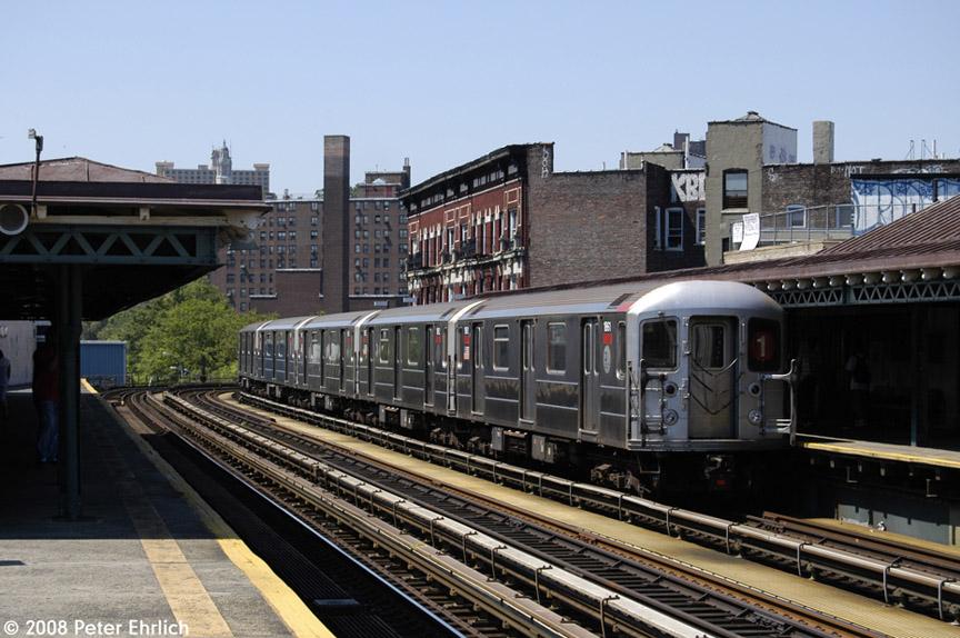 (193k, 864x574)<br><b>Country:</b> United States<br><b>City:</b> New York<br><b>System:</b> New York City Transit<br><b>Line:</b> IRT West Side Line<br><b>Location:</b> 207th Street <br><b>Car:</b> R-62A (Bombardier, 1984-1987)  1861 <br><b>Photo by:</b> Peter Ehrlich<br><b>Date:</b> 7/15/2008<br><b>Notes:</b> Train leaving, trailing view.<br><b>Viewed (this week/total):</b> 1 / 1374