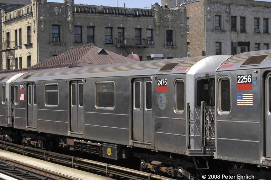 (196k, 864x574)<br><b>Country:</b> United States<br><b>City:</b> New York<br><b>System:</b> New York City Transit<br><b>Line:</b> IRT West Side Line<br><b>Location:</b> North of 215th Street <br><b>Car:</b> R-62A (Bombardier, 1984-1987)  2475 <br><b>Photo by:</b> Peter Ehrlich<br><b>Date:</b> 7/15/2008<br><b>Notes:</b> Inbound.   Highest-numbered R62A.<br><b>Viewed (this week/total):</b> 1 / 1235