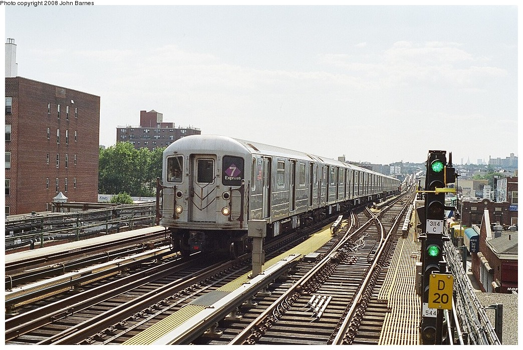 (292k, 1044x699)<br><b>Country:</b> United States<br><b>City:</b> New York<br><b>System:</b> New York City Transit<br><b>Line:</b> IRT Flushing Line<br><b>Location:</b> 74th Street/Broadway <br><b>Route:</b> 7<br><b>Car:</b> R-62A (Bombardier, 1984-1987)  2051 <br><b>Photo by:</b> John Barnes<br><b>Date:</b> 7/15/2008<br><b>Viewed (this week/total):</b> 0 / 1476