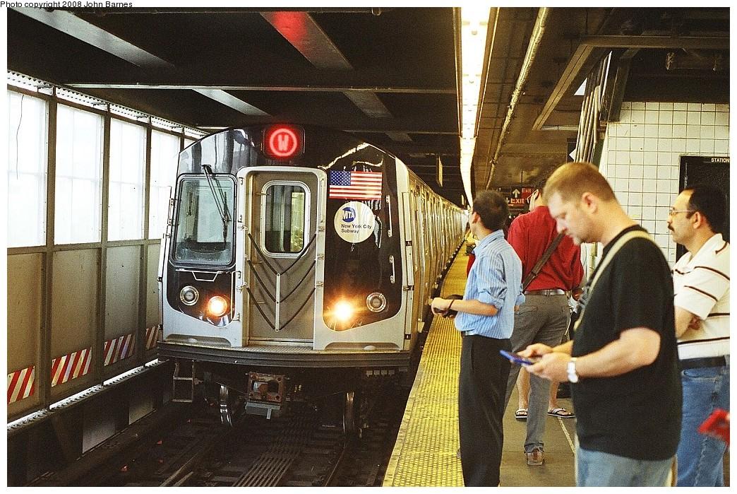 (304k, 1044x699)<br><b>Country:</b> United States<br><b>City:</b> New York<br><b>System:</b> New York City Transit<br><b>Line:</b> BMT Astoria Line<br><b>Location:</b> Queensborough Plaza <br><b>Route:</b> W<br><b>Car:</b> R-160B (Kawasaki, 2005-2008)  8959 <br><b>Photo by:</b> John Barnes<br><b>Date:</b> 7/15/2008<br><b>Viewed (this week/total):</b> 0 / 2948