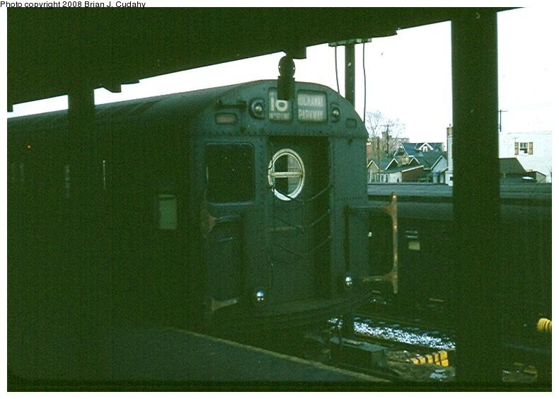 (135k, 790x564)<br><b>Country:</b> United States<br><b>City:</b> New York<br><b>System:</b> New York City Transit<br><b>Location:</b> Rockaway Parkway (Canarsie) Yard<br><b>Route:</b> BMT 16 (L)<br><b>Car:</b> R-16 (American Car & Foundry, 1955)  <br><b>Photo by:</b> Brian J. Cudahy<br><b>Date:</b> 5/1958<br><b>Viewed (this week/total):</b> 0 / 1681
