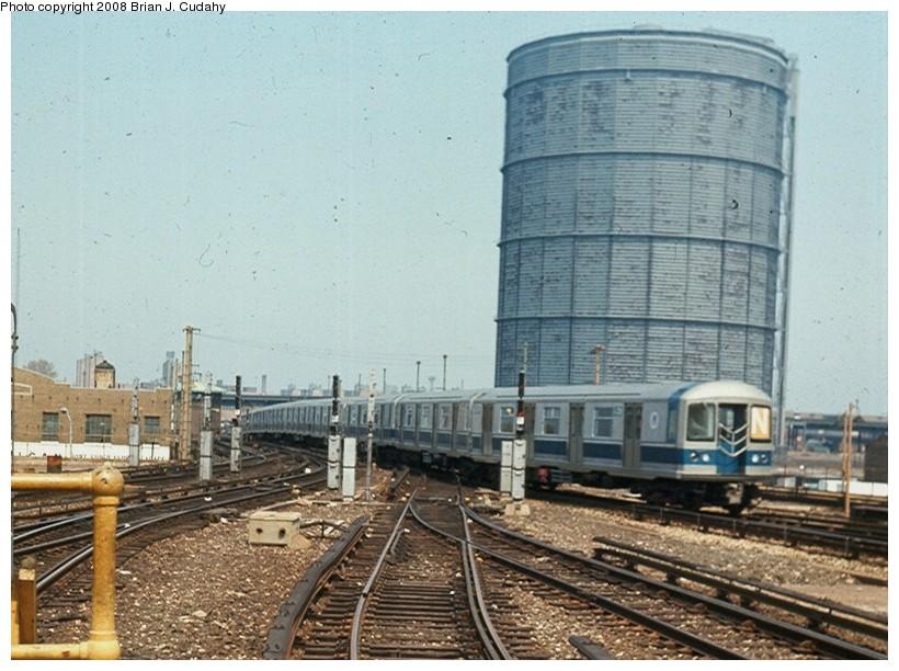 (153k, 820x612)<br><b>Country:</b> United States<br><b>City:</b> New York<br><b>System:</b> New York City Transit<br><b>Location:</b> Coney Island/Stillwell Avenue<br><b>Route:</b> Franklin Shuttle<br><b>Car:</b> R-40M (St. Louis, 1969)   <br><b>Photo by:</b> Brian J. Cudahy<br><b>Date:</b> 11/1969<br><b>Viewed (this week/total):</b> 3 / 2130