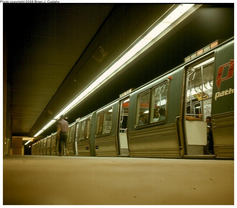 (122k, 820x719)<br><b>Country:</b> United States<br><b>City:</b> New York<br><b>System:</b> PATH<br><b>Location:</b> World Trade Center <br><b>Car:</b> PATH PA-1 (St. Louis Car, 1965)   <br><b>Photo by:</b> Brian J. Cudahy<br><b>Date:</b> 1971<br><b>Viewed (this week/total):</b> 1 / 2439