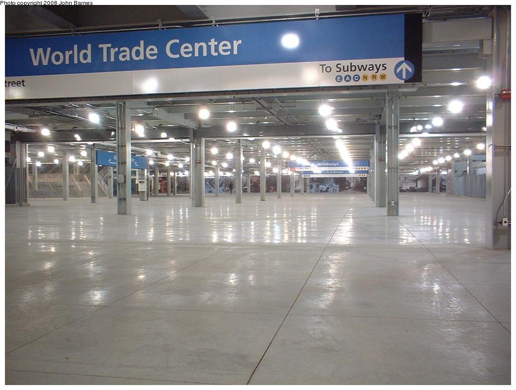 (220k, 1044x788)<br><b>Country:</b> United States<br><b>City:</b> New York<br><b>System:</b> PATH<br><b>Location:</b> World Trade Center <br><b>Photo by:</b> John Barnes<br><b>Date:</b> 11/24/2003<br><b>Notes:</b> Upper mezzanine. Re-opening day.<br><b>Viewed (this week/total):</b> 1 / 1825