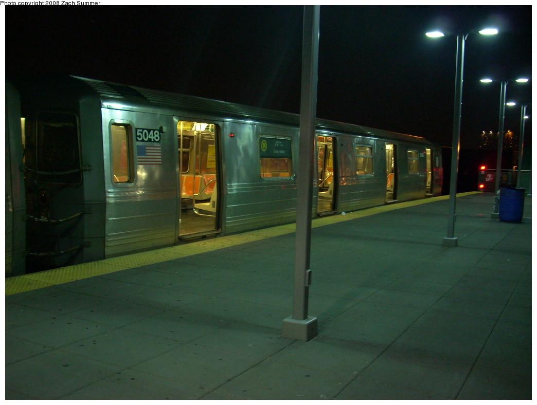 (191k, 1044x788)<br><b>Country:</b> United States<br><b>City:</b> New York<br><b>System:</b> New York City Transit<br><b>Location:</b> Coney Island/Stillwell Avenue<br><b>Route:</b> Q<br><b>Car:</b> R-68A (Kawasaki, 1988-1989)  5048 <br><b>Photo by:</b> Zach Summer<br><b>Date:</b> 7/3/2008<br><b>Viewed (this week/total):</b> 0 / 1463