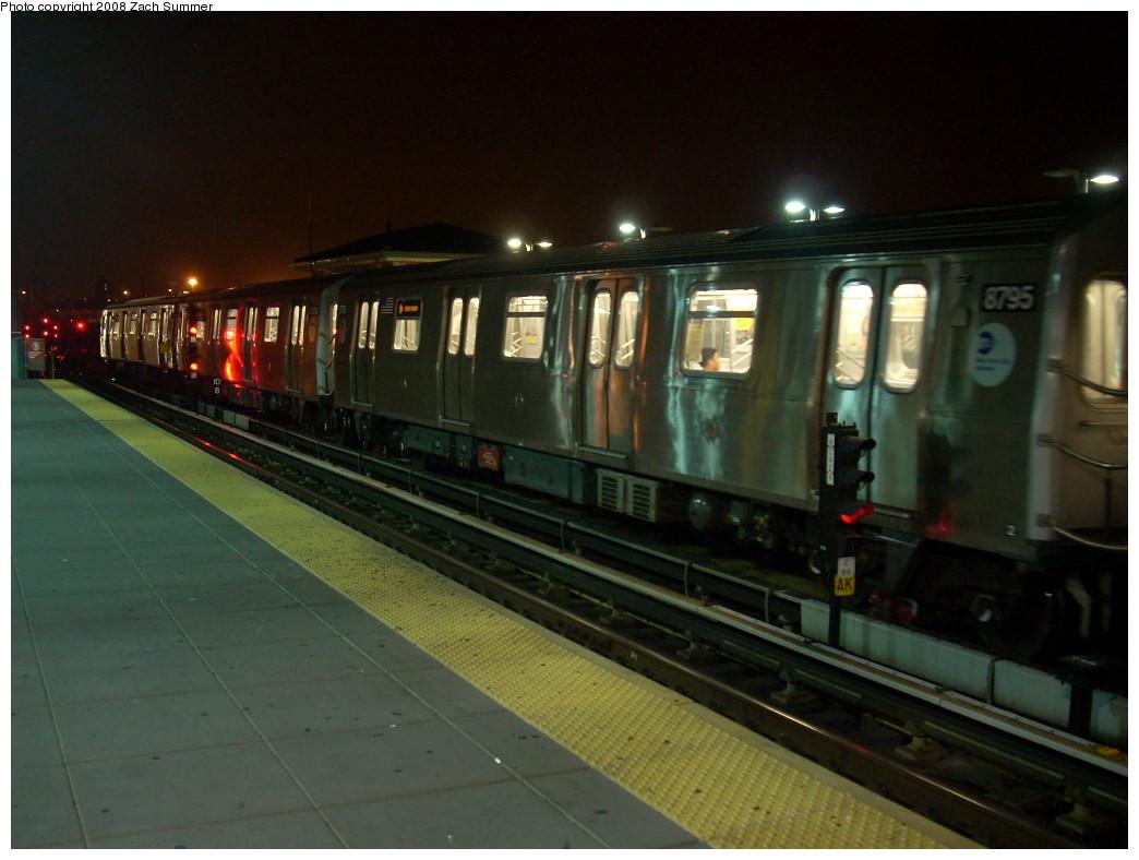 (209k, 1044x788)<br><b>Country:</b> United States<br><b>City:</b> New York<br><b>System:</b> New York City Transit<br><b>Location:</b> Coney Island/Stillwell Avenue<br><b>Route:</b> N<br><b>Car:</b> R-160B (Kawasaki, 2005-2008)  8795 <br><b>Photo by:</b> Zach Summer<br><b>Date:</b> 7/3/2008<br><b>Viewed (this week/total):</b> 2 / 1509