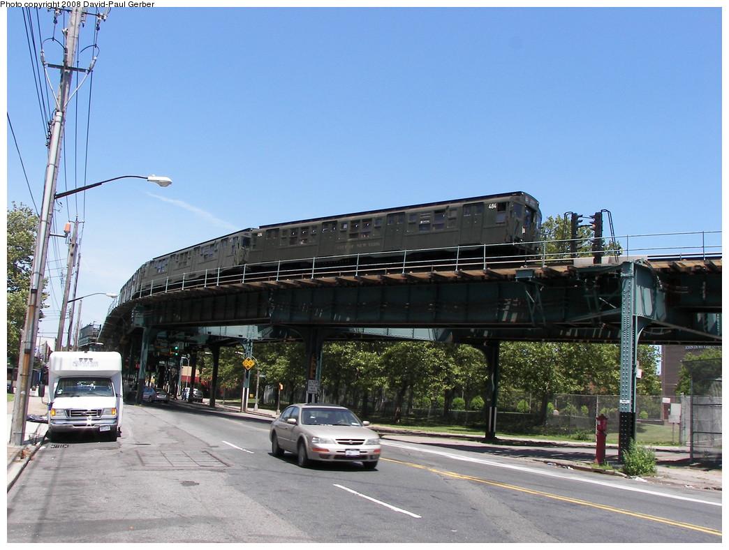 (282k, 1044x788)<br><b>Country:</b> United States<br><b>City:</b> New York<br><b>System:</b> New York City Transit<br><b>Line:</b> BMT West End Line<br><b>Location:</b> Bay 50th Street <br><b>Route:</b> Transit Museum Nostalgia Train<br><b>Car:</b> R-4 (American Car & Foundry, 1932-1933) 484 <br><b>Photo by:</b> David-Paul Gerber<br><b>Date:</b> 7/13/2008<br><b>Viewed (this week/total):</b> 0 / 3177