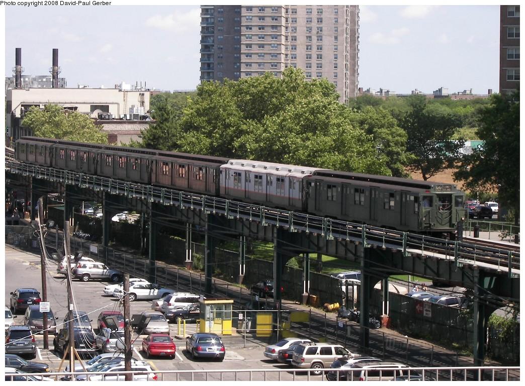 (269k, 1044x768)<br><b>Country:</b> United States<br><b>City:</b> New York<br><b>System:</b> New York City Transit<br><b>Line:</b> BMT Culver Line<br><b>Location:</b> West 8th Street <br><b>Route:</b> Transit Museum Nostalgia Train<br><b>Car:</b> R-9 (Pressed Steel, 1940)  1802 <br><b>Photo by:</b> David-Paul Gerber<br><b>Date:</b> 7/13/2008<br><b>Viewed (this week/total):</b> 1 / 2049