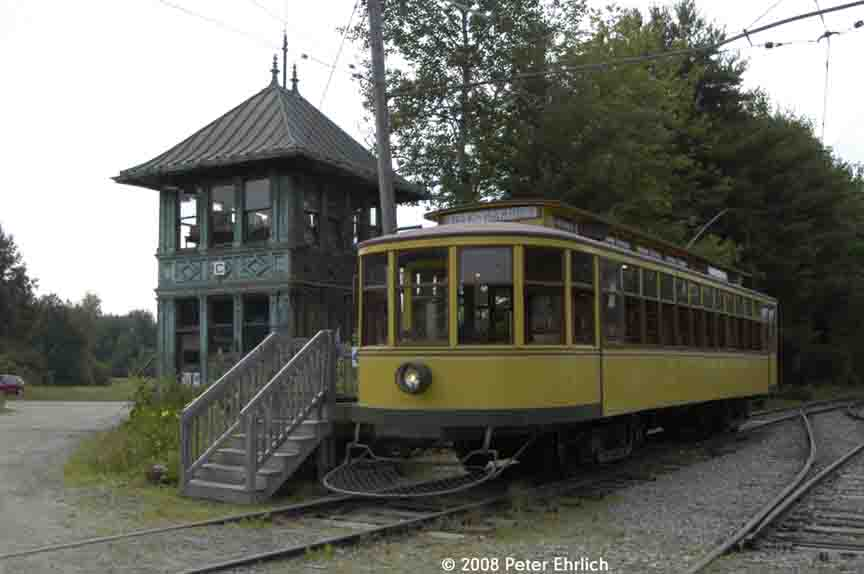(65k, 864x574)<br><b>Country:</b> United States<br><b>City:</b> Kennebunk, ME<br><b>System:</b> Seashore Trolley Museum <br><b>Car:</b> Twin City Rapid Transit 1267 <br><b>Photo by:</b> Peter Ehrlich<br><b>Date:</b> 7/18/2008<br><b>Notes:</b> Twin City Rapid Transit 1267.  At Tower C, next to Visitor Center.<br><b>Viewed (this week/total):</b> 0 / 680