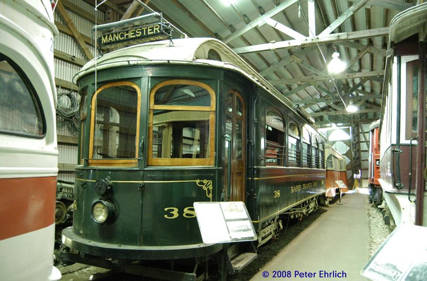 (223k, 864x569)<br><b>Country:</b> United States<br><b>City:</b> Kennebunk, ME<br><b>System:</b> Seashore Trolley Museum <br><b>Car:</b> Manchester Street Railway 38 <br><b>Photo by:</b> Peter Ehrlich<br><b>Date:</b> 7/18/2008<br><b>Notes:</b> Manchester St. Ry 38. Riverside Carhouse.<br><b>Viewed (this week/total):</b> 0 / 742