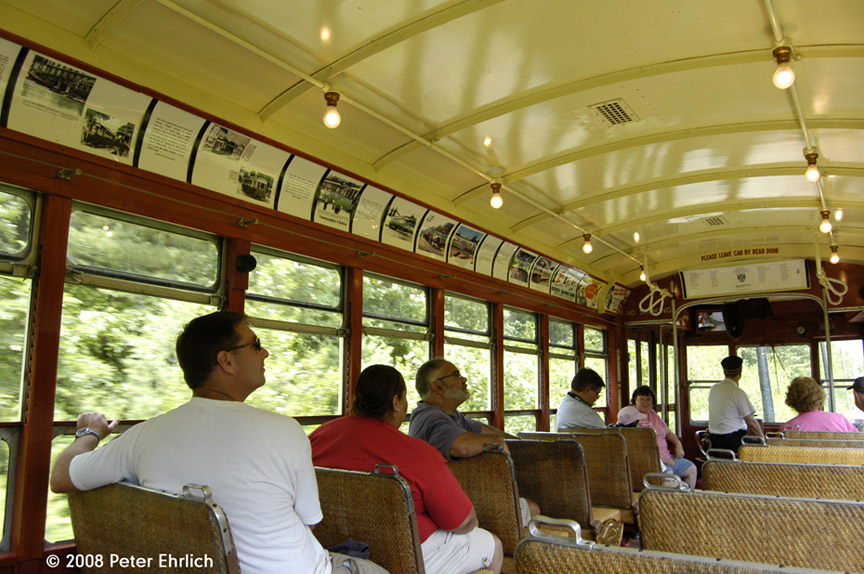 (214k, 864x574)<br><b>Country:</b> United States<br><b>City:</b> Kennebunk, ME<br><b>System:</b> Seashore Trolley Museum <br><b>Car:</b> TARS 631 <br><b>Photo by:</b> Peter Ehrlich<br><b>Date:</b> 7/18/2008<br><b>Notes:</b> Third Avenue Railway System Huffliner: 631. Interior.<br><b>Viewed (this week/total):</b> 0 / 925