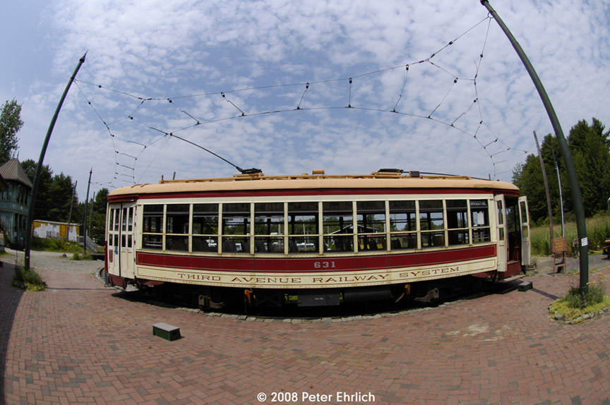 (189k, 864x574)<br><b>Country:</b> United States<br><b>City:</b> Kennebunk, ME<br><b>System:</b> Seashore Trolley Museum <br><b>Car:</b> TARS 631 <br><b>Photo by:</b> Peter Ehrlich<br><b>Date:</b> 7/18/2008<br><b>Notes:</b> Third Avenue Railway System Huffliner: 631. At Visitor Center.<br><b>Viewed (this week/total):</b> 3 / 675