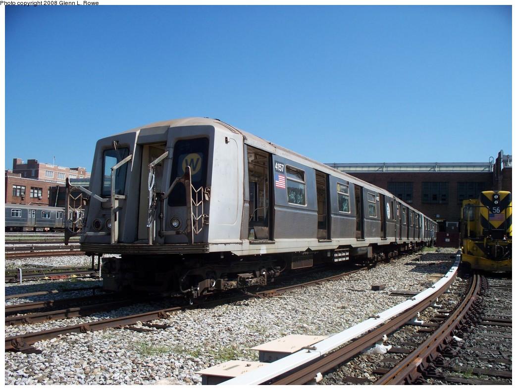 (246k, 1044x788)<br><b>Country:</b> United States<br><b>City:</b> New York<br><b>System:</b> New York City Transit<br><b>Location:</b> 207th Street Yard<br><b>Car:</b> R-40 (St. Louis, 1968)  4157 <br><b>Photo by:</b> Glenn L. Rowe<br><b>Date:</b> 7/25/2008<br><b>Notes:</b> Scrap<br><b>Viewed (this week/total):</b> 0 / 2083