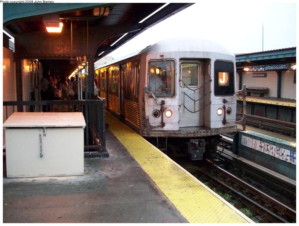 (227k, 1044x788)<br><b>Country:</b> United States<br><b>City:</b> New York<br><b>System:</b> New York City Transit<br><b>Line:</b> BMT Nassau Street/Jamaica Line<br><b>Location:</b> Gates Avenue <br><b>Route:</b> J<br><b>Car:</b> R-42 (St. Louis, 1969-1970)  4671 <br><b>Photo by:</b> John Barnes<br><b>Date:</b> 7/27/2008<br><b>Viewed (this week/total):</b> 1 / 1820