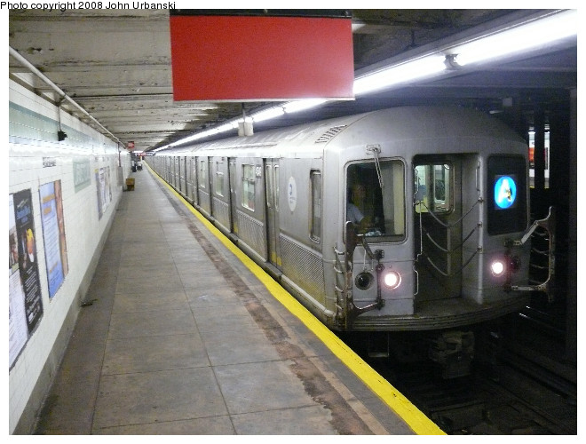(110k, 660x500)<br><b>Country:</b> United States<br><b>City:</b> New York<br><b>System:</b> New York City Transit<br><b>Line:</b> IND Fulton Street Line<br><b>Location:</b> Lafayette Avenue <br><b>Route:</b> A<br><b>Car:</b> R-40M (St. Louis, 1969)  4549 <br><b>Photo by:</b> John Urbanski<br><b>Date:</b> 7/26/2008<br><b>Viewed (this week/total):</b> 1 / 3322